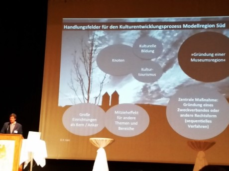 Handlungsempfehlungen für die Modellregion Süd, vorgestellt von Kulturberater Patrick s. Föhl.