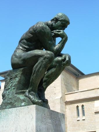 """Im Garten des Museé Rodin in Paris """"Der Denker"""". Foto: Archiv mip"""