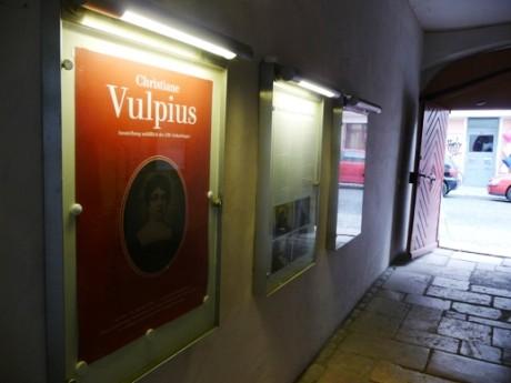 Versteckt in Weimar. Ausstellung zum 250. Geburtstag von Christiane Vulpius.