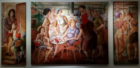 "Petra Flemming schuf 1973/74 das Tryptichon ""Frauen"". Fotos: mip"