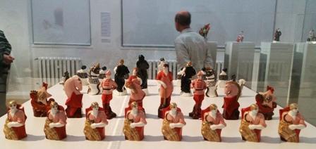 Chemnitz Schachspiel rot