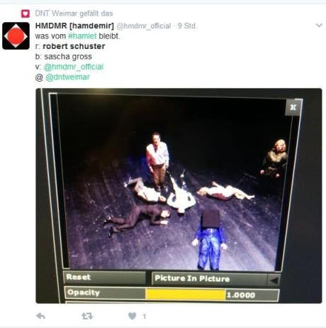 HMDMR twittert nach der Premiere. Screenshot: mip