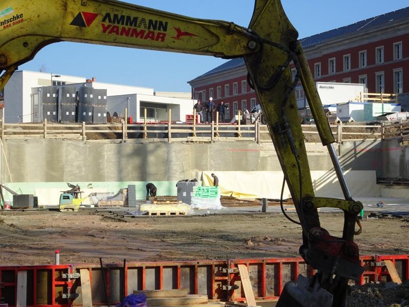 Der rohbau für das neue Bauhaus Museum wächst. Alle Fotos: mip