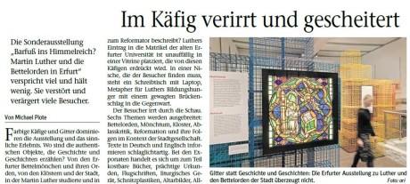 Der Beitrag erschien zuerst in der Tageszeitung Freies Wort und im Internet.