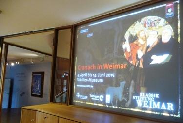 Foyer mit Glaswand für gutes Klima. Die Cranachs können 2015 kommen.