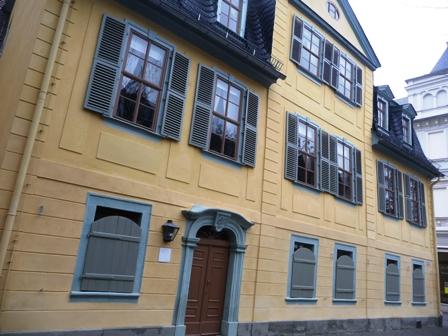 Schillers Wohnhaus in Weimar, Schillerstraße 12.