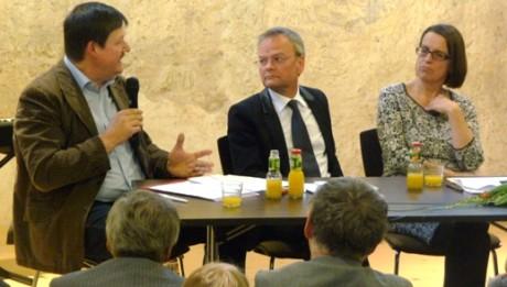 Museumsdirektor Werneburg (links) kann sich Zusammenarbeit in einem Museumsverbund vorstellen. Fotos: mip