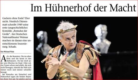 Ausschnitt meiner Rezension in der Tageszeitung Freies Wort. Foto: mip