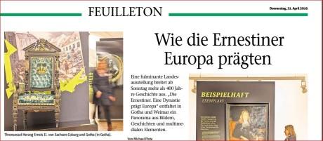 Berichtet im Feuilleton von Freies Wort. Screenshot: mip