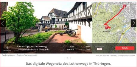 Die Luther-App für smartphones gibt es auch als Web-Variante. Screenshot TTG: mip