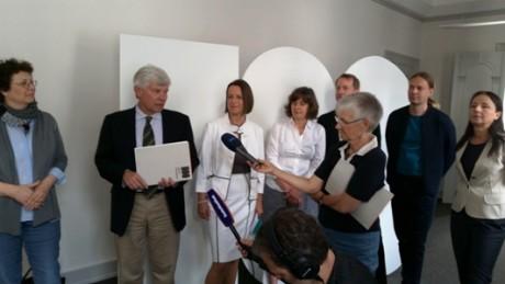 Rechts hinten die Macher: Andrea Dietrich, Christian Bodach, Sven Appelt. Fotos: mip