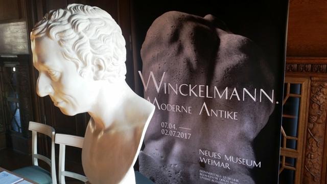 """Ab 7. April in Weimar zum 300. Geburtstag von J. J. Winckelmann große Sonderausstellung """"Moderne Antike""""."""