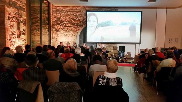 Podiumsgespräch nach der Vorpremiere im Erfurter augustinerkloster. Fotos: mip